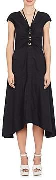 Derek Lam 10 Crosby Women's Grommet-Laced Cotton Poplin Dress