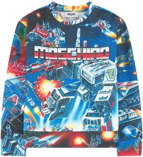 Moschino Printed milano jersey sweatshirt
