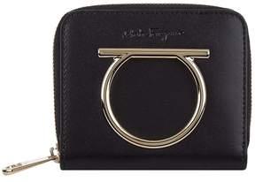 Salvatore Ferragamo Leather Gancini French Wallet