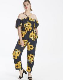 AX Paris Curve Sunflower Jumpsuit