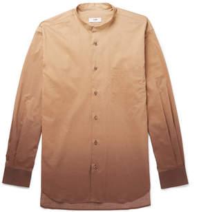 Cmmn Swdn Dwayne Grandad-Collar Dégradé Cotton Shirt