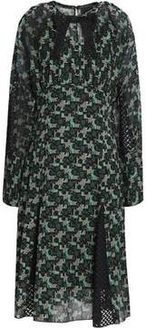 Anna Sui Bow-Embellished Printed Chiffon Dress