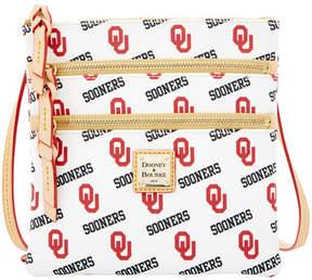 Dooney & Bourke Oklahoma Sooners Triple-Zip Crossbody Bag - WHITE - STYLE