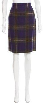 Escada Plaid Wool Skirt