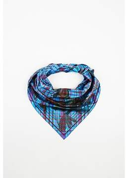 Hermes Pre-owned Multicolor Silk pani La Shar Pawnee Plaid Printed Triangle Scarf.