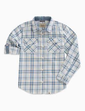 Lucky Brand Long Sleeve Twill Plaid Shirt