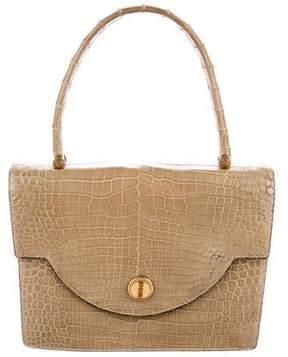 Hermes Vintage Crocodile Handle Bag