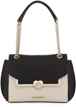 Love Moschino Two-Tone Faux-Leather Shoulder Bag