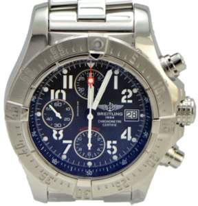 Breitling Aeromarine Avenger A13380 Stainless Steel with Black Dial 45mm Unisex Watch