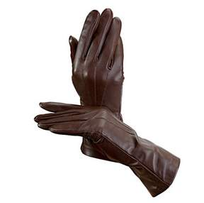 Aspinal of London Ladies Cashmere Lined Leather Gloves In Brown