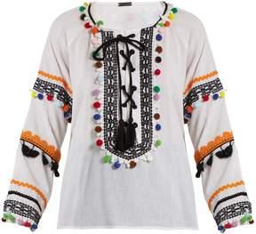 DAY Birger et Mikkelsen DODO BAR OR Yehoray pompom-embellished cotton top