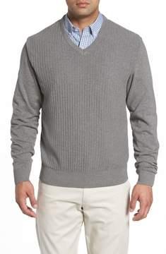 Cutter & Buck Bryant Rib-Knit V-Neck Sweater
