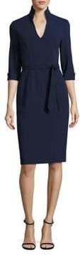 Black Halo Madeline Tie-Front Sheath Dress