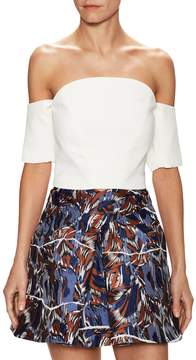 C/Meo COLLECTIVE Women's Off The Shoulder Sleeve Top
