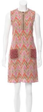 Andrew Gn Printed Mini Dress