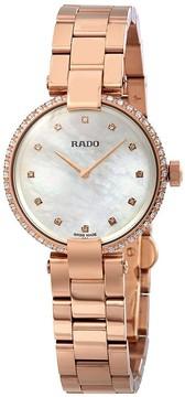 Rado Coupole White Mother of Pearl Diamond Dial Ladies Watch