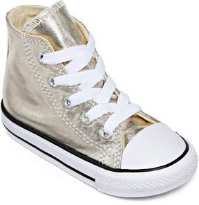 Converse Chuck Taylor All Star Metallic Girls High-Top Sneakers - Toddler