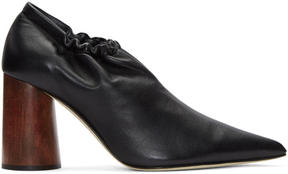 Helmut Lang Black Nappa Elasticized Pumps