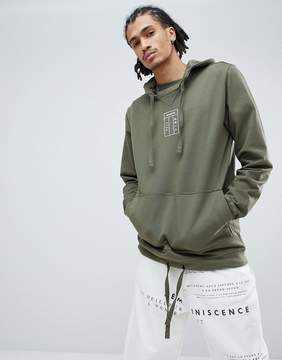 MHI Organic Cotton Hoodie With Embroidered Logo In Green