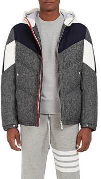 Moncler Gamme Bleu Men's Down-Quilted Wool Hooded Coat