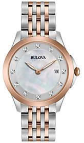 Bulova Ladies' Diamond Accent Two-Tone Watch