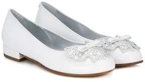 Simonetta bow-embellished ballerinas