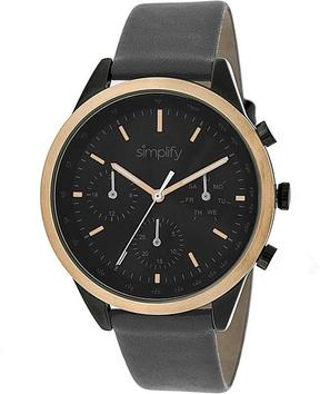 Simplify The 3800 Collection SIM3807 Unisex Watch with Leather Strap