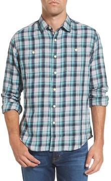 Grayers Men's Trevor Modern Fit Slub Twill Sport Shirt