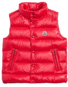 Moncler Boy's Tib Water Resistant Shiny Down Puffer Vest