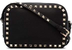 Valentino Black Rockstud cross body camera bag