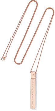 Diane Kordas Rectangular Amulette 18-karat Rose Gold Diamond Necklace