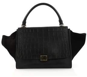 Celine Pre-owned: Trapeze Handbag Crocodile Embossed Leather Medium.