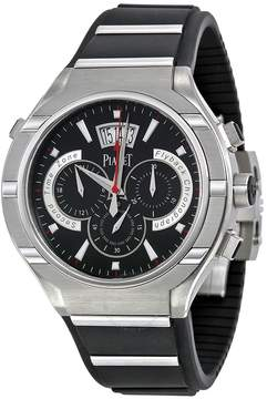 Piaget Polo Chronograph Automatic Black Dial Rubber Men's Watch