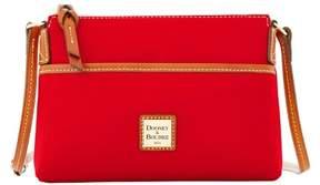Dooney & Bourke Pebble Grain Ginger Pouchette Shoulder Bag - RED - STYLE