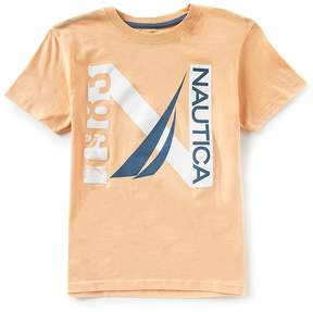 Nautica Big Boys 8-20 Jacob Short-Sleeve Crew Neck Logo Tee