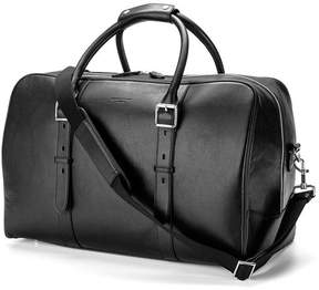 Aspinal of London Large Harrison Weekender Travel Bag In Smooth Black