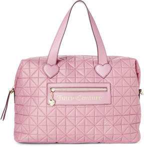 Juicy Couture Posey Pink Starburst Quilted Weekender