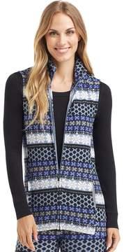 Cuddl Duds Plus Size Full Zip Fleece Vest