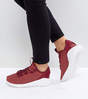 adidas Tubular Doom Sock Sneakers In Burgundy
