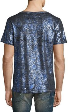 Robin's Jeans Painted Crewneck T-Shirt, Blue/Silver