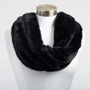 World Market Black Faux Fur Snood Scarf
