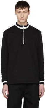 Noon Goons Black Court Zip-Up Sweatshirt