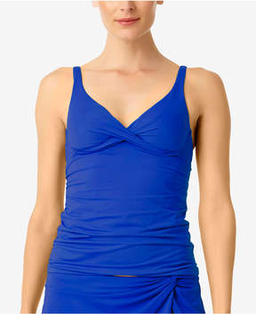 Anne Cole Ruched Bra-Sized Tankini Top Women's Swimsuit