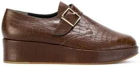 Robert Clergerie monk strap platform loafers