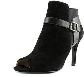 Marc Fisher Shimmee Peep-toe Leather Ankle Boot.