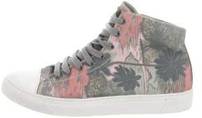Marc Jacobs Tropical Print High-Top Sneakers
