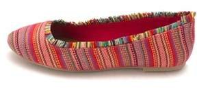 Mia Womens Belinda Fabric Closed Toe Slide Flats.