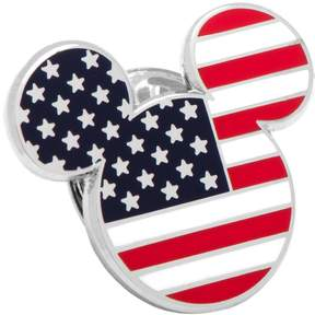 Disney Disney's Mickey Mouse Head American Flag Lapel Pin