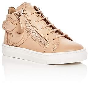Giuseppe Zanotti Girls' Birel Wings Mid Top Sneakers - Baby, Walker, Toddler