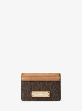 Michael Kors Jet Set Logo Card Case - BROWN - STYLE